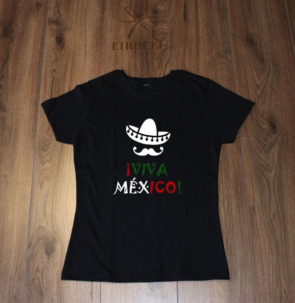 b8404fcb2e Playera Viva México (Sombrero) ⋆ Libbele Evento y Estilo